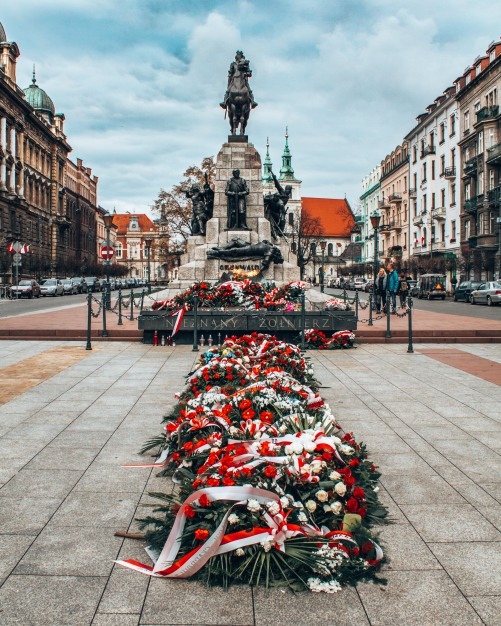 The Grunwald monument in Krakow, Poland