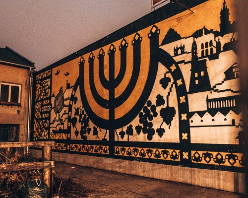 Some cool street art in the Jewish quarter of Krakow, Poland