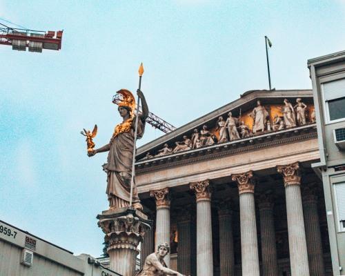 Parlament building Vienna Austria