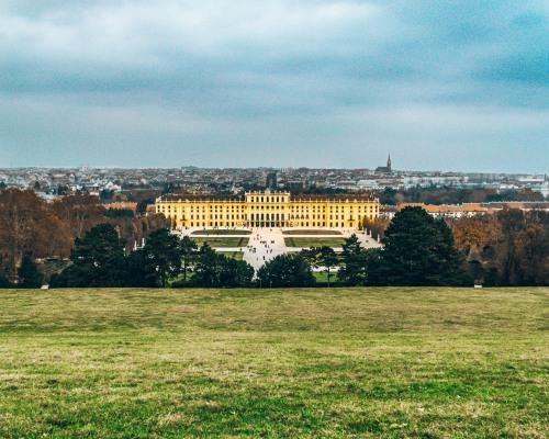 Schonbrunn Palace from the garden Vienna Austria