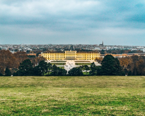 Schonbrunn Palace from the garden Vienna Austria