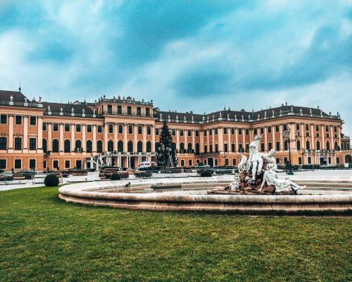 Schonbrunn Palace front Vienna Austria
