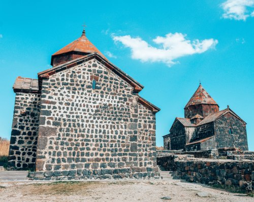 Sevanavank church lake Sevan, Armenia
