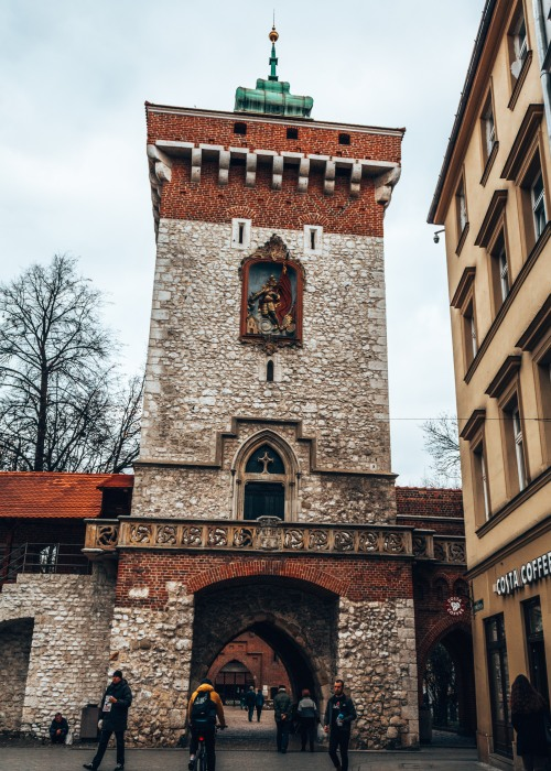 St-Florian's Gate in the old town of Krakow, Poland