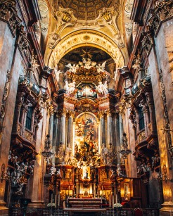 St Peter's Church altar Vienna Austria