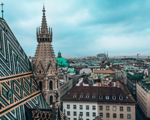 St Stephen's Cathedral rooftop view Vienna Austria