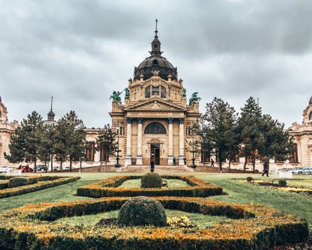 You must visit the Széchenyi thermal baths in Budapest, Hungary.CR2