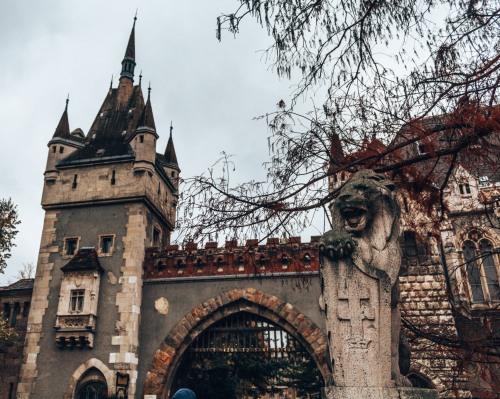 The Vajdahunyad Castle in Budapest, Hungary