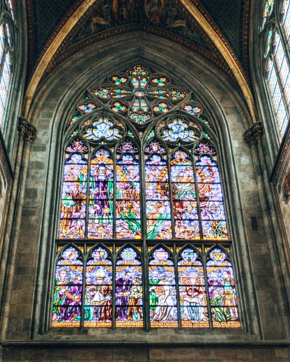 Vortishkirche stained glass window Vienna Austria.CR2