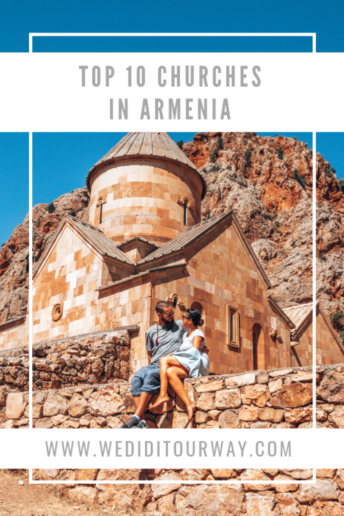 Top 10 churches to visit in Armenia. There are a ton of them, but these ones were particularly beautiful and striking to us. Armenia was the first Christian nation so it's no surprise that there are so many churches to visit.   www.wediditourway.com
