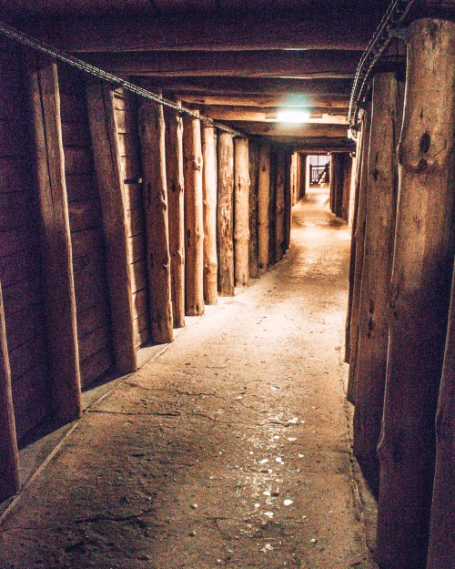 One of hundreds of passages in the Wielicska salt mines in Wieliczka, Poland