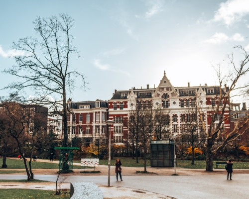 Beautiful architecture in Amsterdam, Netherlands