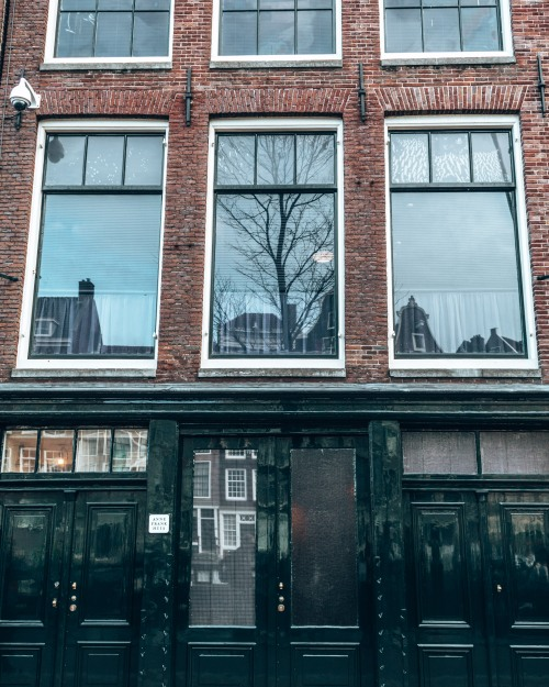 The Anne Frank house in Amsterdam, Netherlands