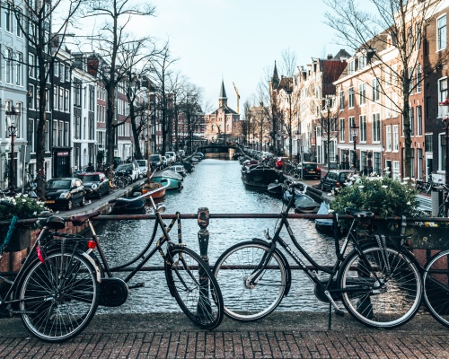 Bicycles in Amsterdam, Netherlands