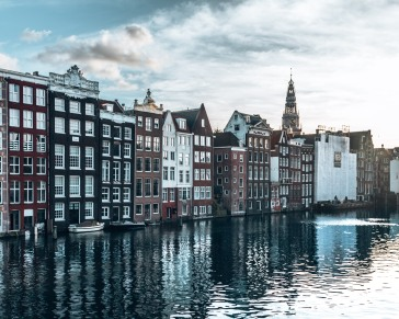 The beautiful canals of Amsterdam, Netherlands