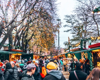 The Christmas market near the Mirabell Palace in Salzburg, Austria