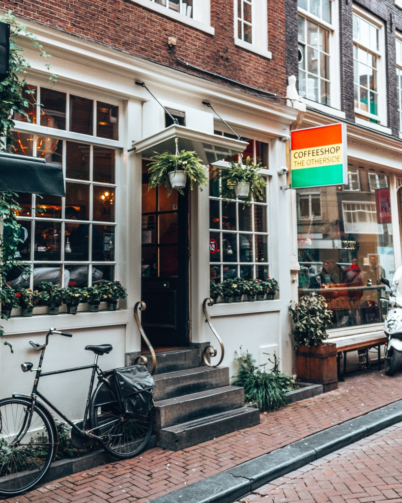 A typical coffeeshop in Amsterdam, Netherlands