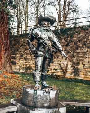 The D'Artagnan monument in Maastricht, Netherlands