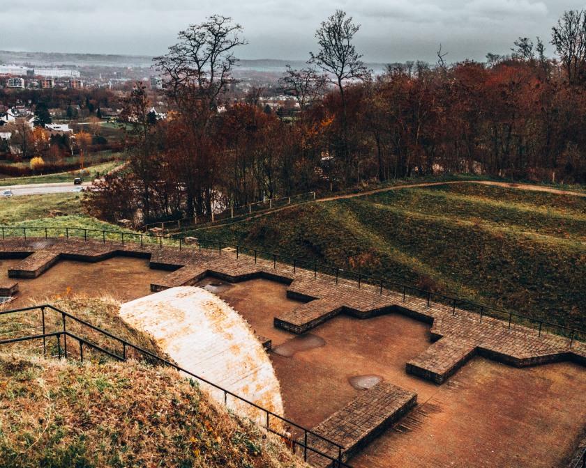 Fort St Pieter hill in Maastricht, Netherlands