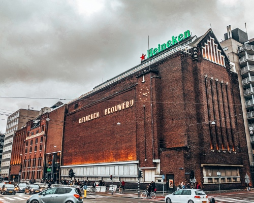 The Heineken brewery museum in Amsterdam, Netherlands