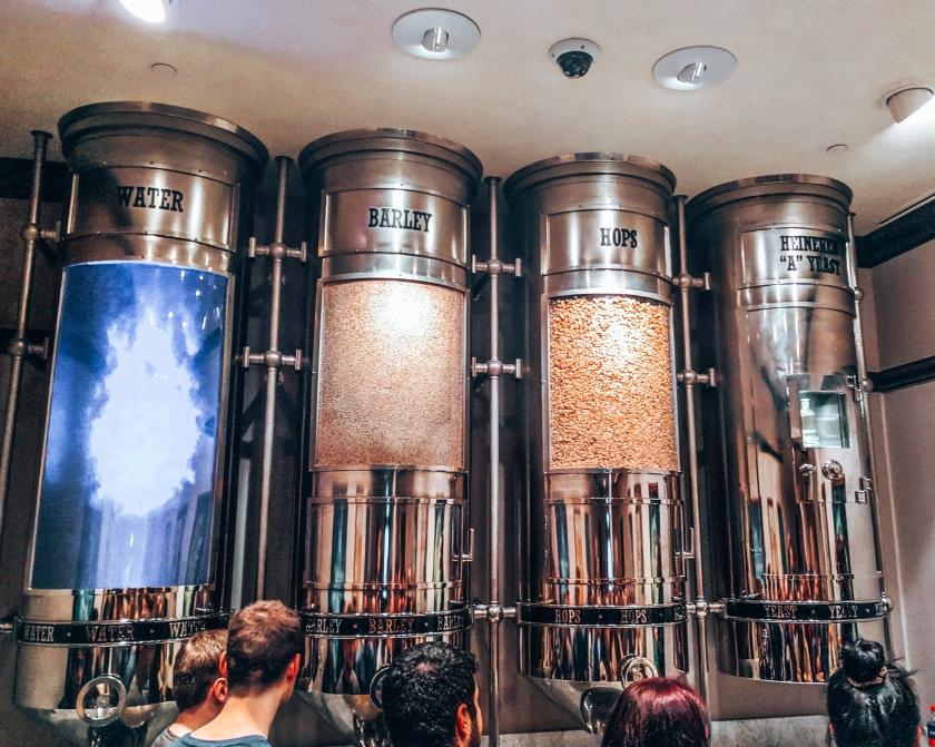 The Heineken brewery's principle ingredients in Amsterdam, Netherlands