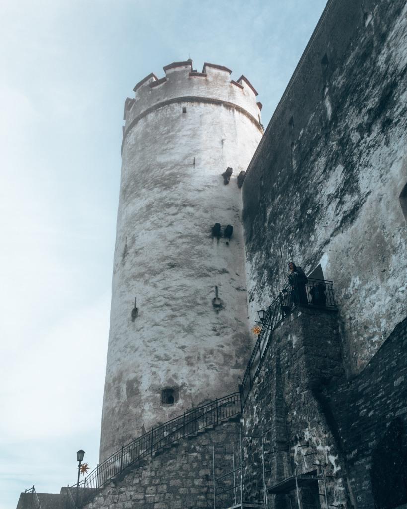 A turret of the Hohensalzburg Fortress in Salzburg, Austria