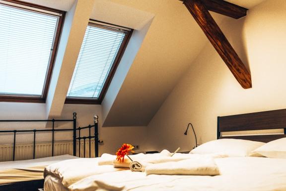 Atticus B&B bedroom Ljubljana Slovenia