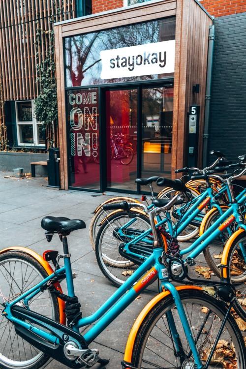 Rent a bike at StayOkay Vondelpark in Amsterdam, Netherlands