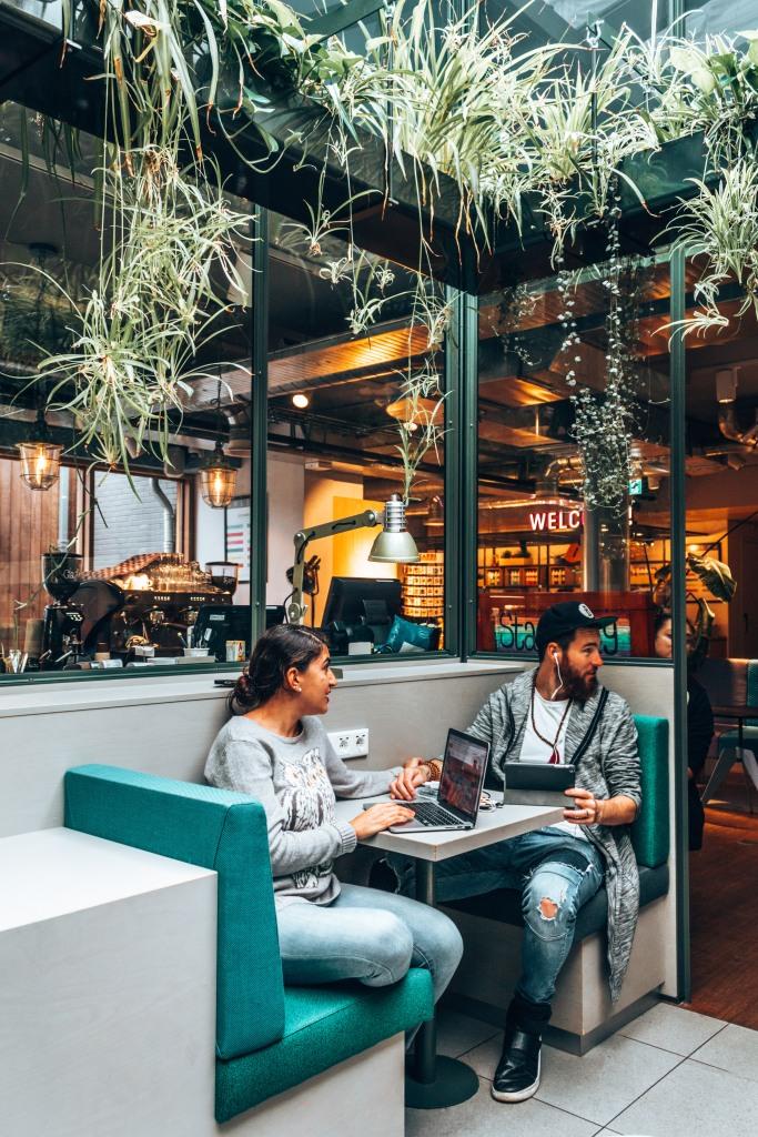 Grab something to eat at Stayokay Vondelpark in Amsterdam, Netherlands