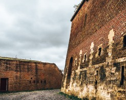 Inside the walls of Fort St Pieter in Maastricht, Netherlands
