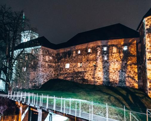 Ljubljana castle in Ljubljana, Slovenia