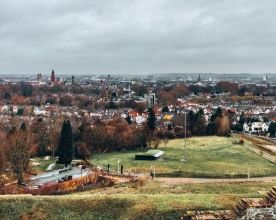 The old town of Maastricht viewed from Fort St Pieter in Maastricht, Netherlands