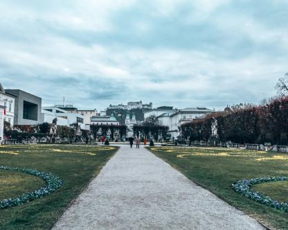 The Mirabell Gardens in Salzburg, Austria