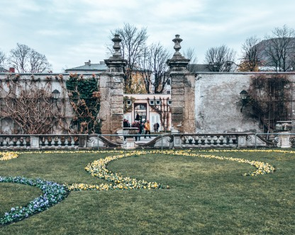 The gates in the Mirabell Gardens in Salzburg, Austria
