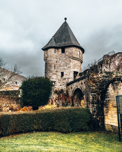 A part of the old city walls in Maastricht, Netherlands
