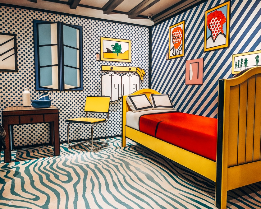 Roy Lichtenstein's 3D experience room at the Moco Museum in Amsterdam, Netherlands