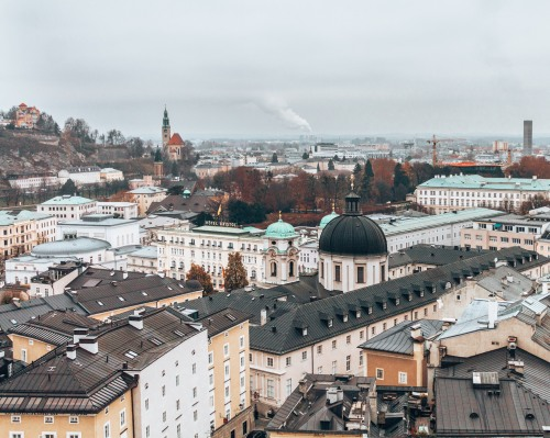 The cityscape of Salzburg, Austria