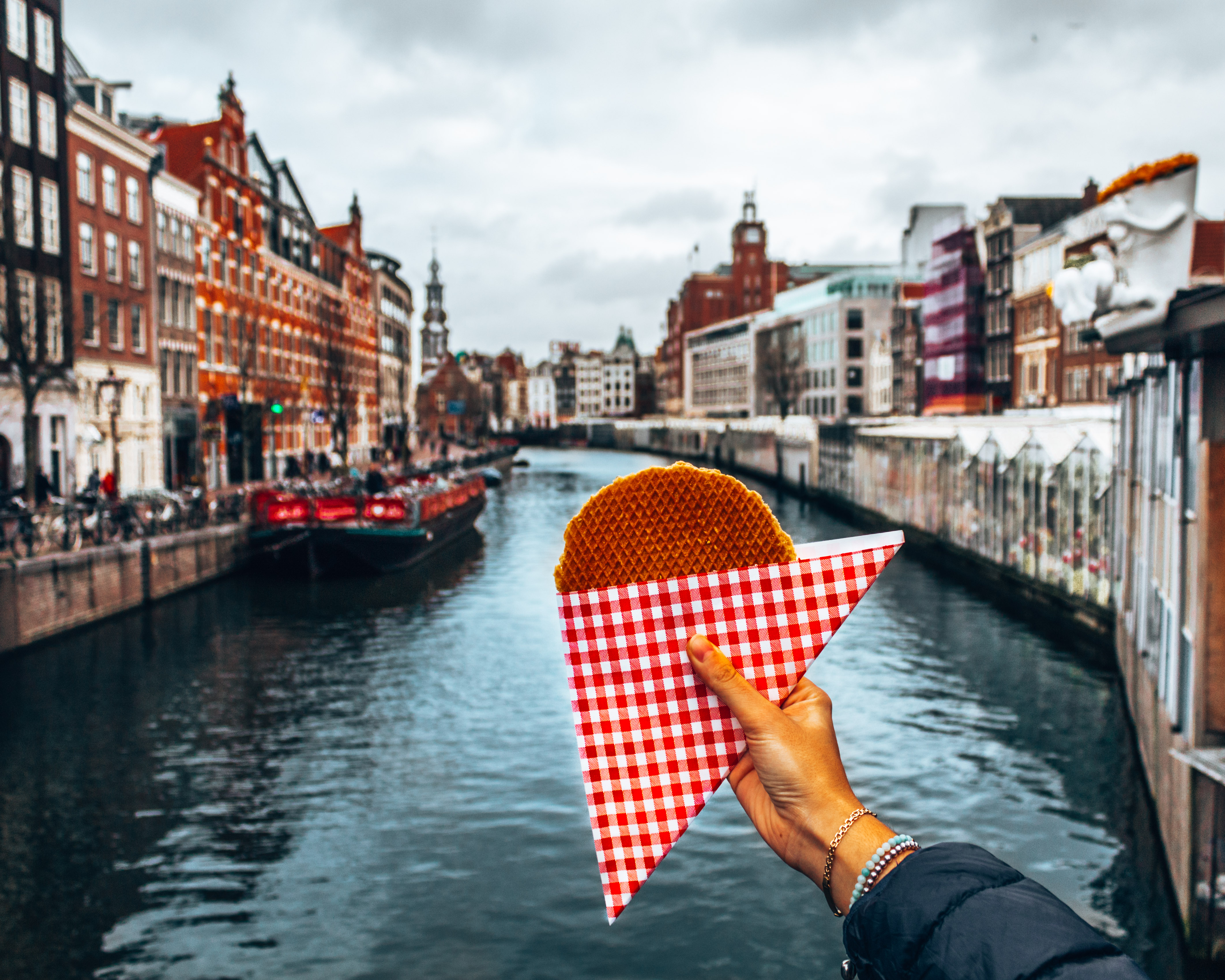Delicious stroopwafel in Amsterdam, Netherlands
