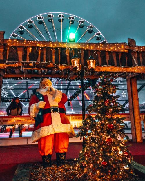 The Vrijthof Square Christmas market in Maastricht, Netherlands