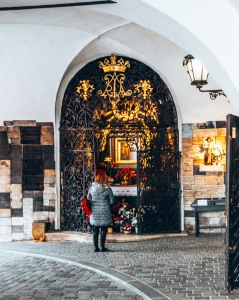 The little Chapel in the Stone Gate in Zagreb, Croatia