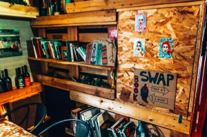 Take a book leave a book at the Chillout Hostel in Zagreb, Croatia