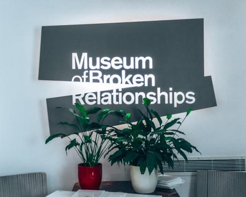 The Museum of Broken Relationships in Zagreb, Croatia
