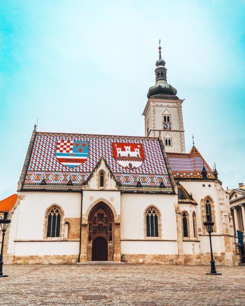 St Marc's Church in upper Zagreb, Croatia