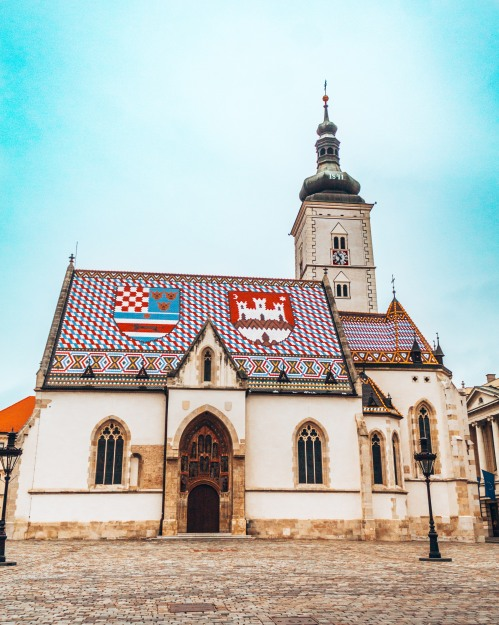 St Marc's Church in upper Zagreb, Croatia