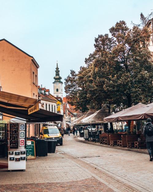 The Tkalčićeva shopping street in Zagreb, Croatia