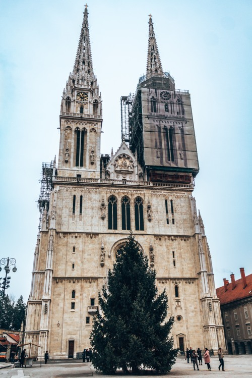 The Zagreb Cathedral in Zagreb, Croatia