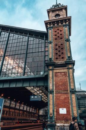The Budapest train station, Hungary