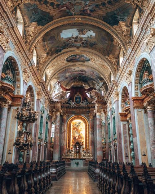 The opulent Dominikaner Kirche in Vienna, Austria