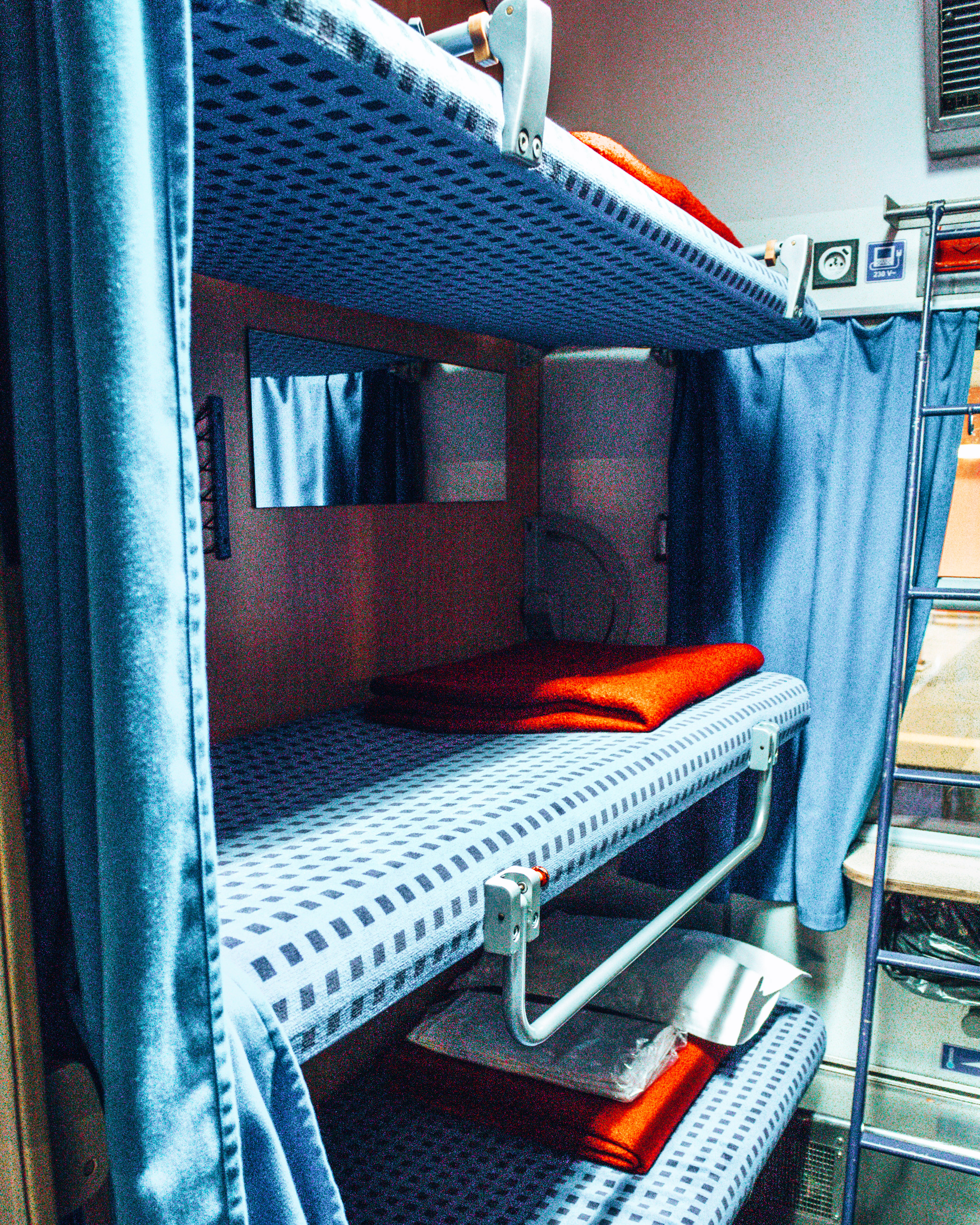Our bed for the night on our way to Bratislava