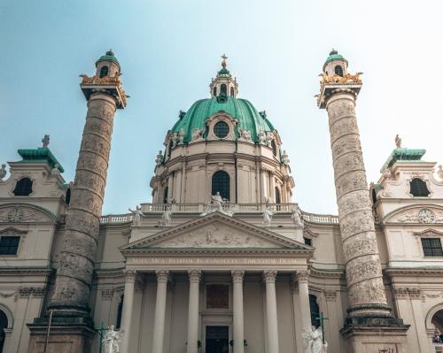The Karlskirche in Vienna, Austria